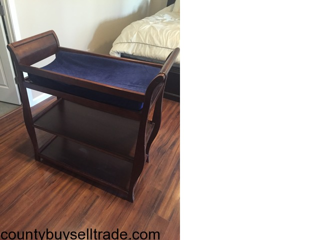 Cherrywood Changing Table With Cushion And Cover In Weldon Spring , St.  Charles, Missouri
